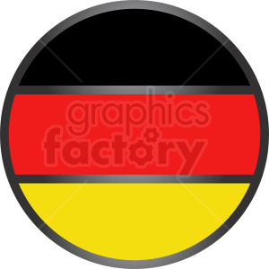 germany vector circle icon flag flat design clipart. Royalty-free image # 408753