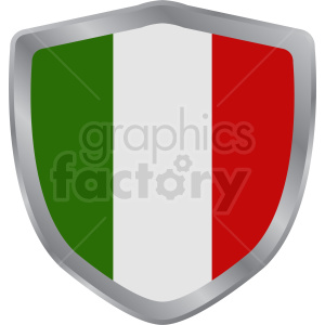 italy flag vector shield design clipart. Royalty-free image # 408758