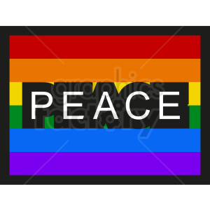 rainbow peace flag icon clipart. Royalty-free image # 408775