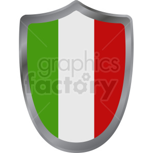 italy flag round shield design clipart. Commercial use image # 408805