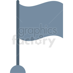 gray flag vector icon clipart. Royalty-free image # 408823