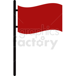 red flag no background clipart. Royalty-free image # 408840