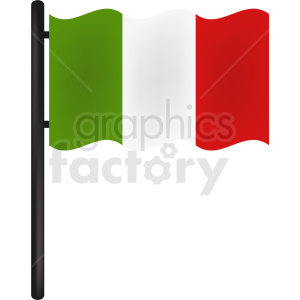 italy flag icon design clipart. Royalty-free image # 408855
