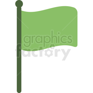 green flag icon no background clipart. Royalty-free image # 408860