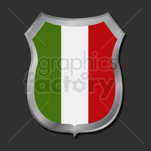 italy flag shield design on dark background clipart. Commercial use image # 408865