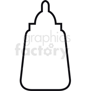 mustard bottle outline clipart. Royalty-free image # 408873