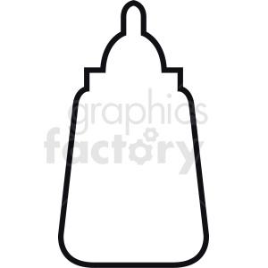 mustard bottle outline