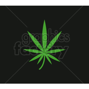 vector marijuana sativa leaf design clipart. Royalty-free image # 408910