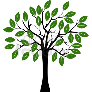vector tree with a lot of leaves clipart. Royalty-free image # 408915