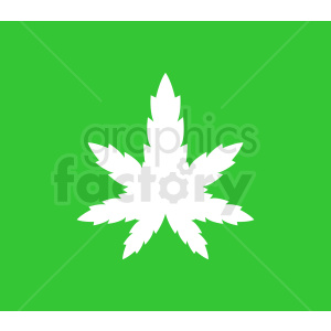 vector marijuana leaf design on green background clipart. Royalty-free image # 408920