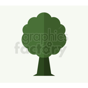 cartoon dark green tree on light green background