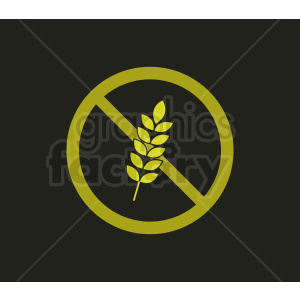 gluten free symbol on black background clipart. Commercial use image # 408940