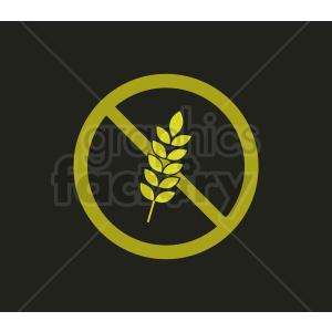 gluten free symbol on black background clipart. Royalty-free image # 408940