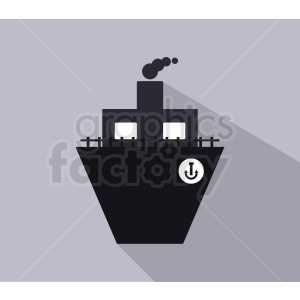 ship icon design on gray background clipart. Commercial use image # 408965