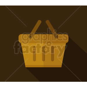 picnic basket icon design on dark background clipart. Royalty-free image # 408985