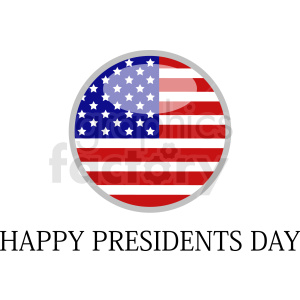 circle presidents day vector icon clipart. Royalty-free image # 409011