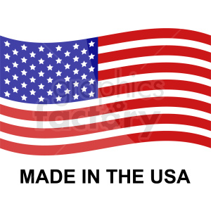 made in the usa icon with flag clipart. Commercial use icon # 409016