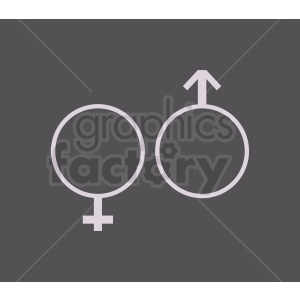 gender icons on dark background clipart. Royalty-free image # 409030