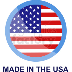 circle made in the usa icon clipart. Royalty-free image # 409041