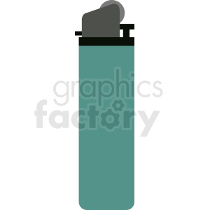 aqua vector bic lighter flat icon clipart. Commercial use image # 409066