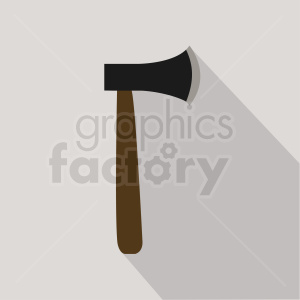 axe with dark brown handle clipart. Royalty-free image # 409068