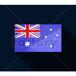 australia flag vector dark bg