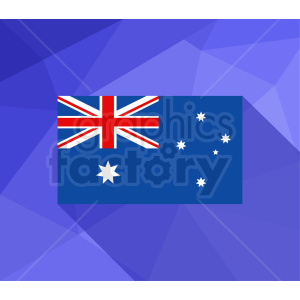 australia flag vector purple bg clipart. Royalty-free image # 409148