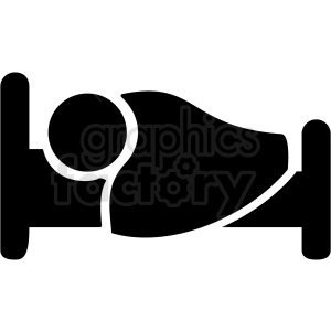 person sleeping in bed icon vector clipart. Royalty-free image # 409182
