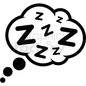 sleeping cloud icon vector clipart. Commercial use image # 409184