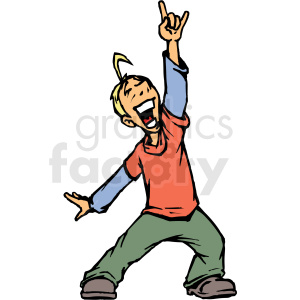 boy having fun clipart. Royalty-free image # 409212