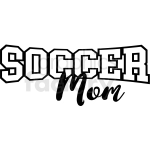 soccer mom vector clipart. Royalty-free image # 409223