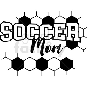 soccer mom vector cut file
