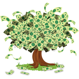 cartoon money tree clipart. Royalty-free image # 409246