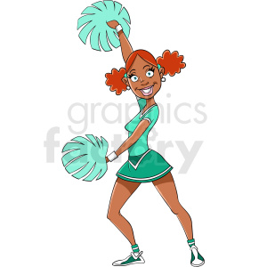 African American teenage girl cartoon clipart. Royalty-free image # 409264