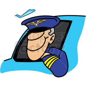 cartoon pilot clipart. Commercial use image # 159798