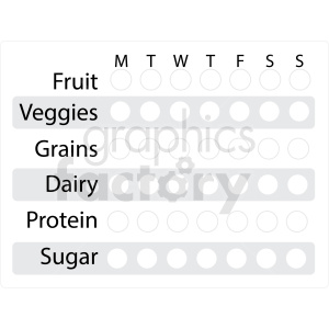 nutrition tracker digital planner sticker clipart. Royalty-free image # 409368