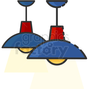 ceiling lamps clipart