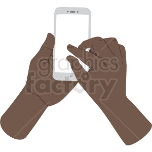 african american hand pinching to zoom on phone vector clipart no background