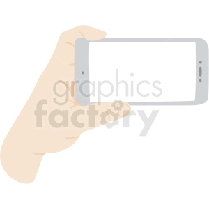 hand holding phone vector clipart clipart. Royalty-free image # 409453