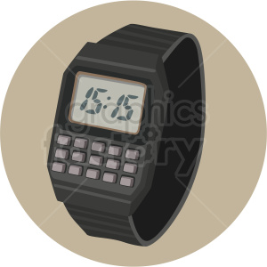 calculator watch light background clipart. Royalty-free image # 409478