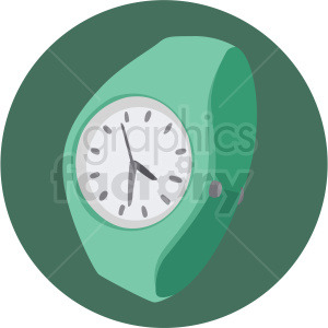 aqua wrist watch on aqua background clipart. Royalty-free image # 409484