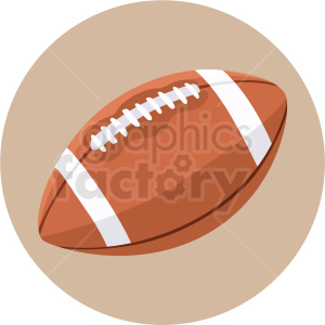 ncaa football vector clipart on circle background