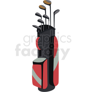 golf bag vector clipart no background clipart. Commercial use image # 409543
