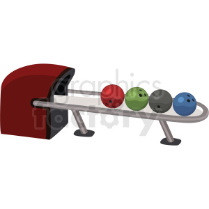 bowling ball machine vector clipart on background