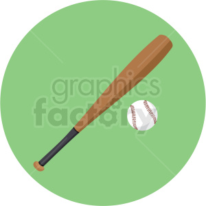 baseball and bat vector clipart on green background clipart. Commercial use image # 409558