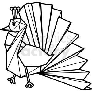 peacock paper craft clipart. Royalty-free image # 409559