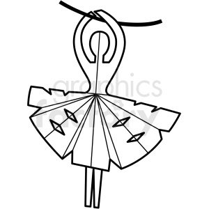 ballerina paper craft clipart. Commercial use image # 409560
