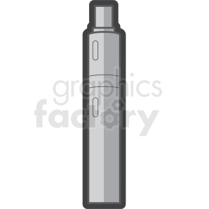 vape pen outlined vector clipart clipart. Commercial use image # 409581