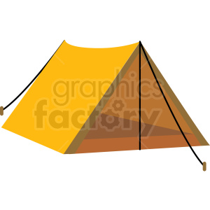 old style camping tent vector clipart clipart. Commercial use icon # 409590