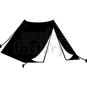 black and white tent vector clipart clipart. Royalty-free icon # 409595